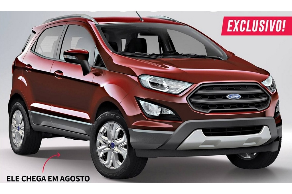 Ford Ecosport Facelift Rendered Looks Masculine
