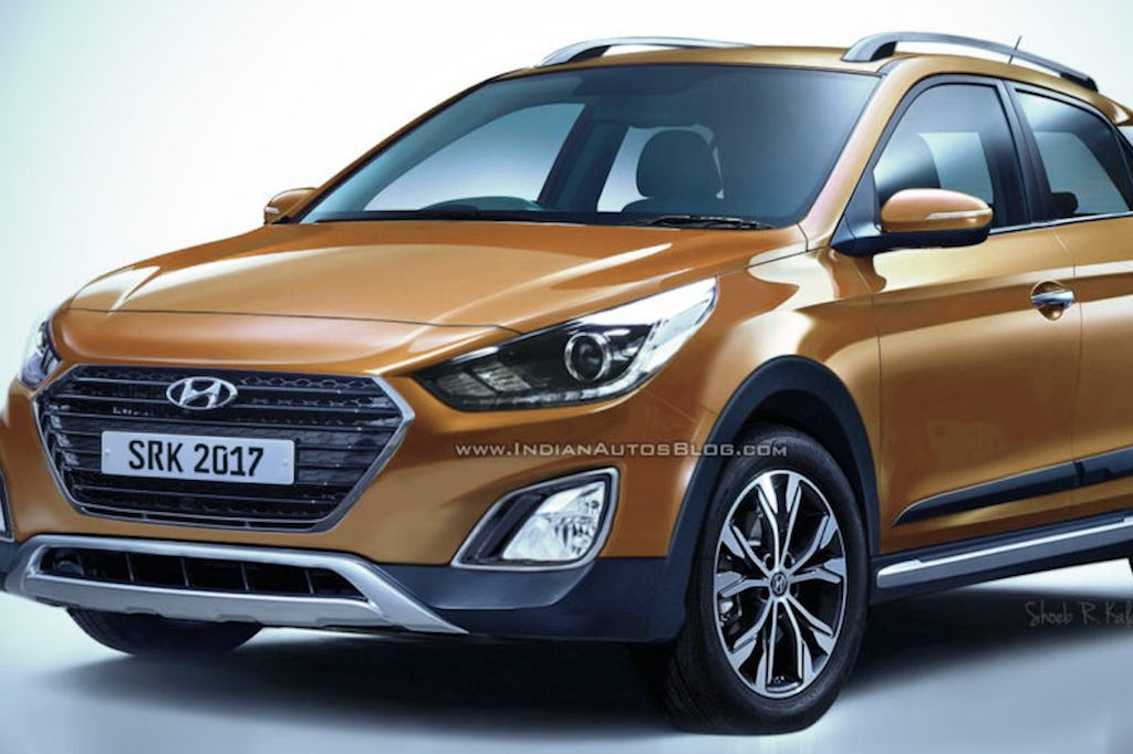 2018 hyundai i20 active facelift rendered motorworldindia. Black Bedroom Furniture Sets. Home Design Ideas
