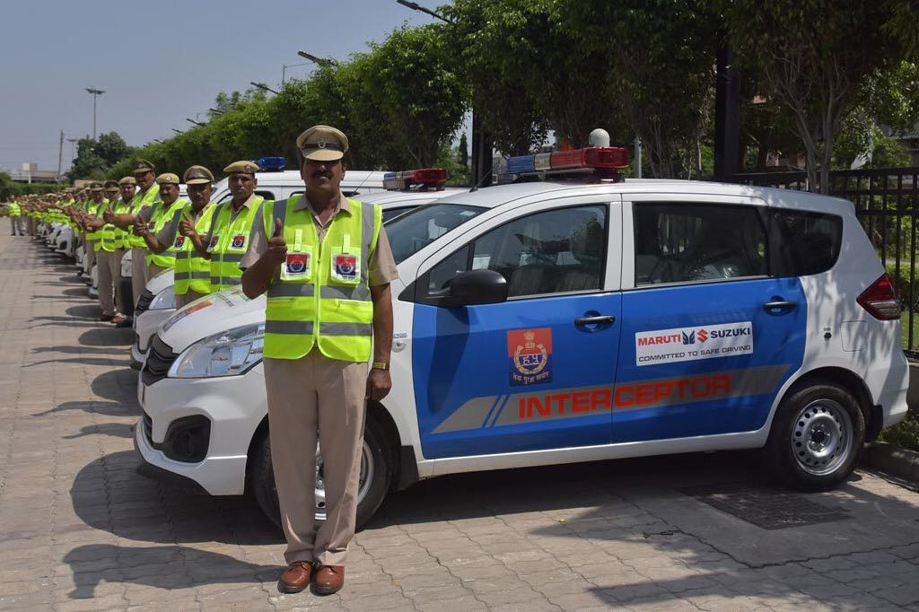 Haryana Police gets 35 vehicles presented from Maruti Suzuki
