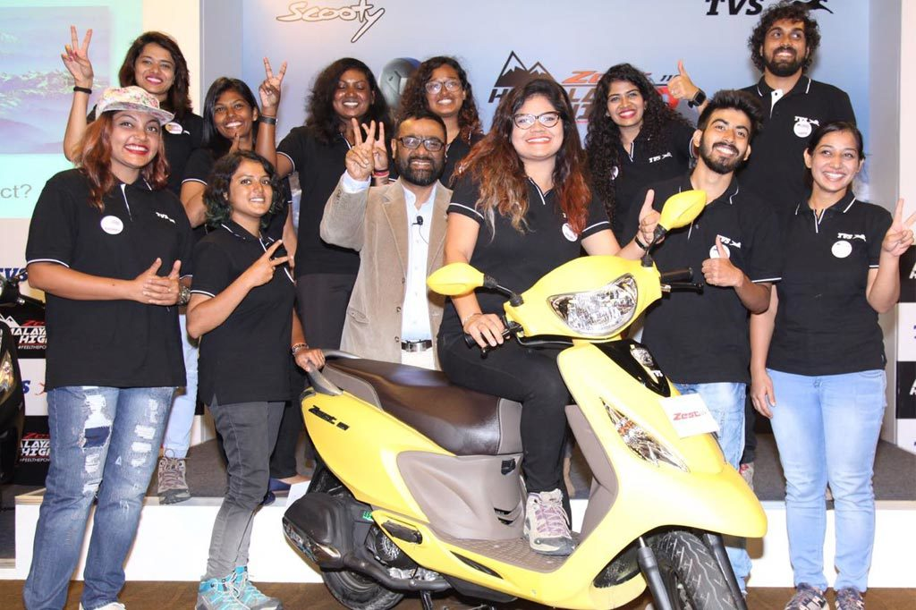 Himalayan Highs Season 3 completed by 12 riders on TVS Zest 110