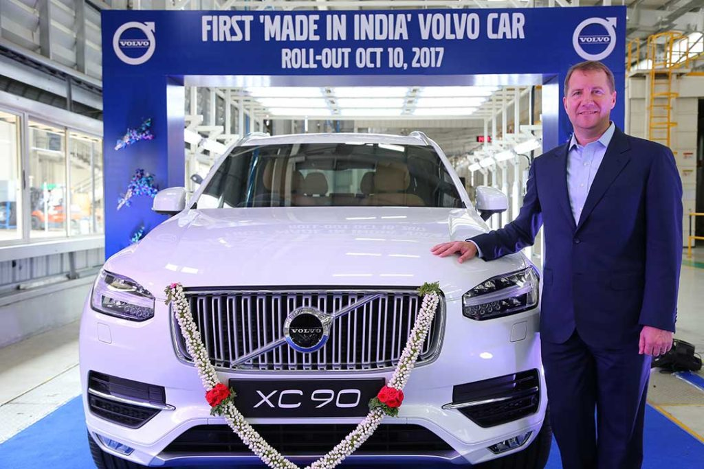 Volvo Rolls Out Make in India XC90 From Bengaluru
