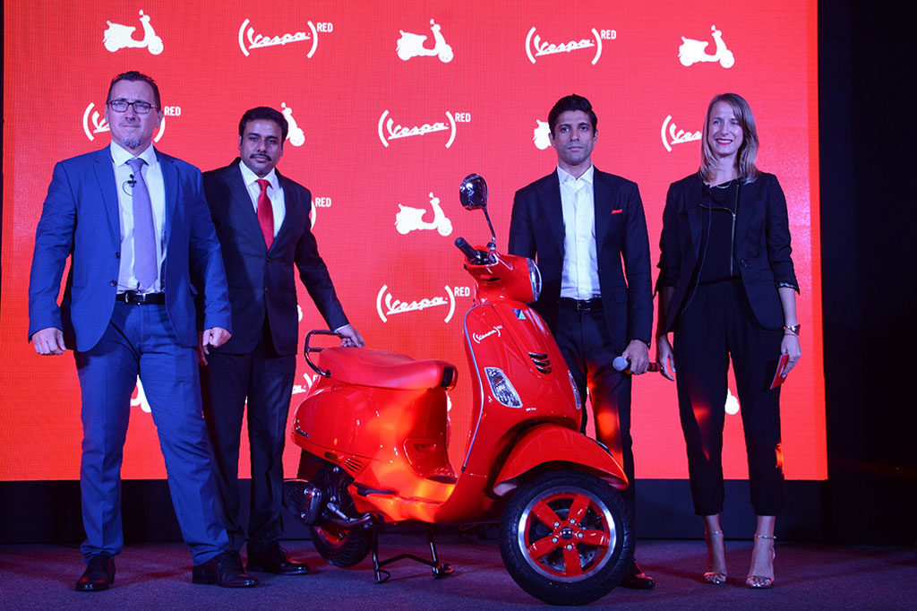 Vespa Red Launched at Rs.87009