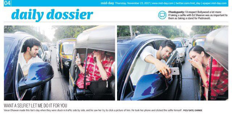 Bollywood Star Varun Dhawan Pulled up by Mumbai Police Publicly on Twitter