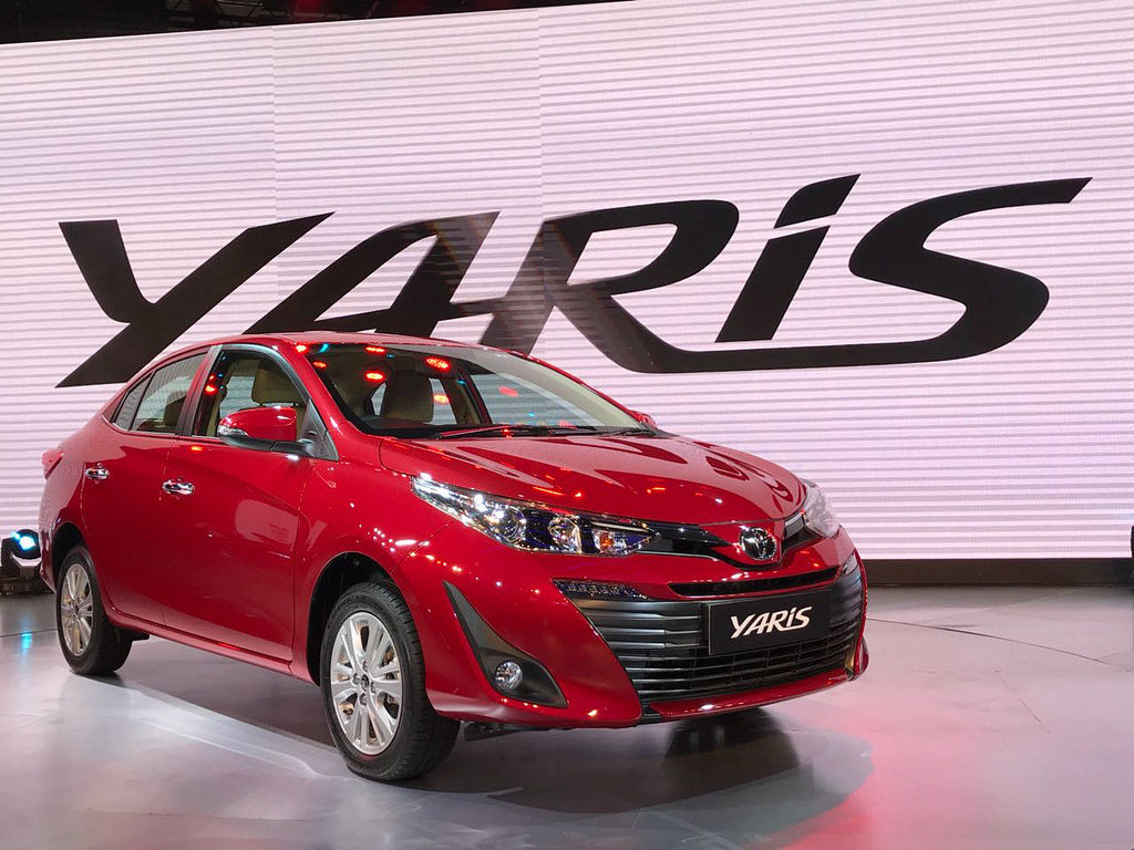Toyota Unveils Yaris Sedan at Auto Expo, Launch in April 2018