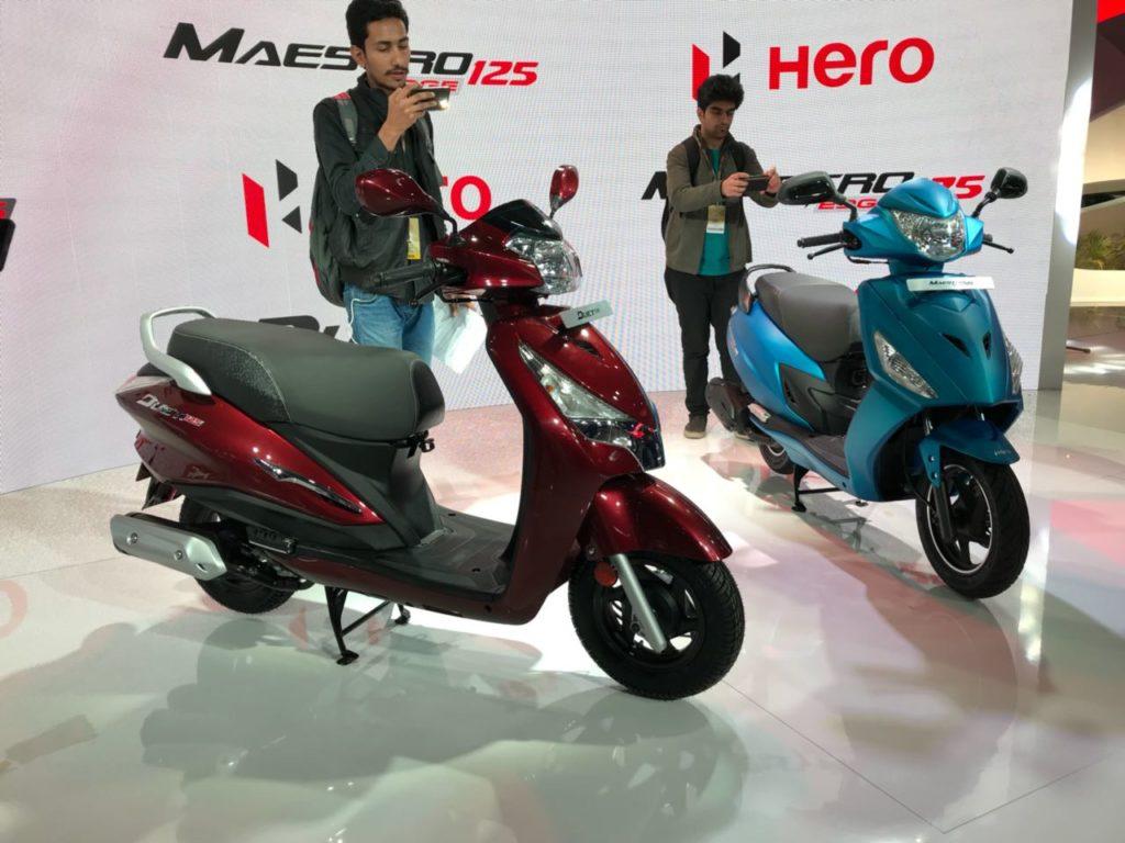 Auto Expo '18 : Hero unveils the Maestro 125 & the Duet 125