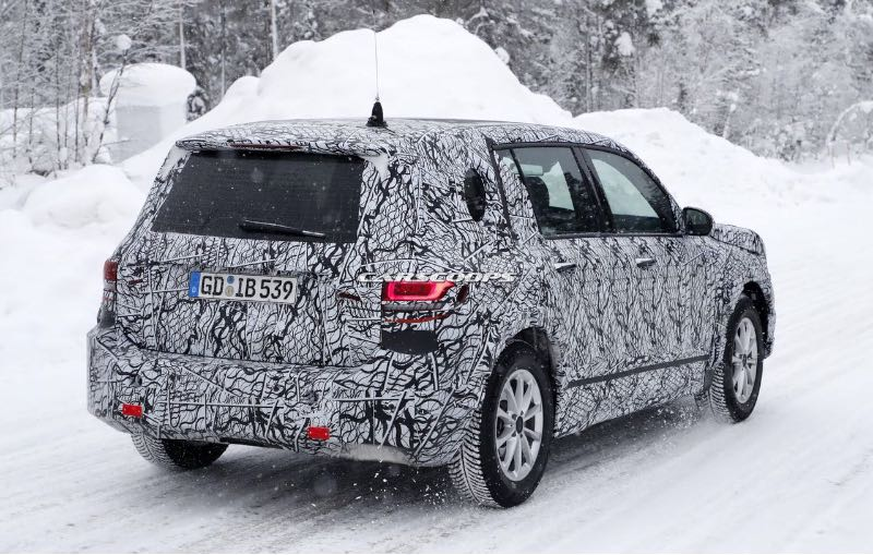 Mercedes-Benz GLB Snapped in Snow, Lots of details here