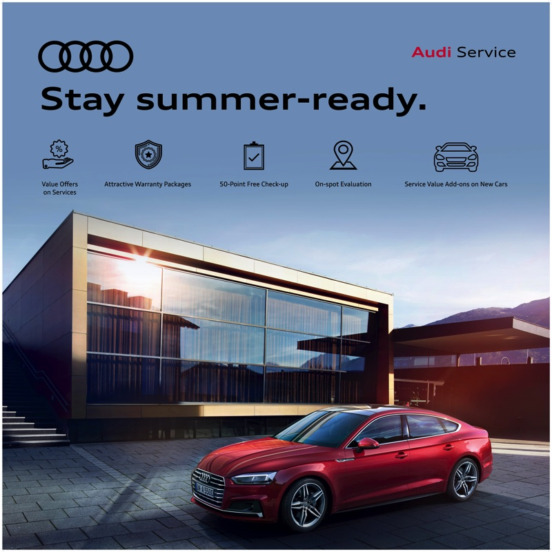 Audi Launches its Summer Campaign – 'Stay Summer Ready'