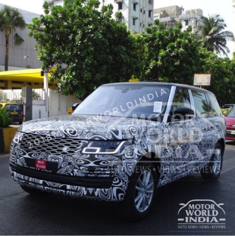EXCLUSIVE SCOOP – 2018 Range Rover Vogue Snapped in Mumbai, Launch around the corner