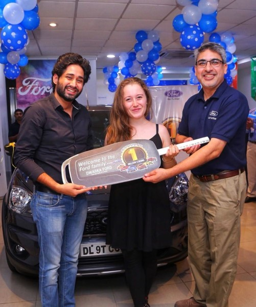 Ford Celebrates as they Deliver the Freestyle to their 1 Millionth Customer in India