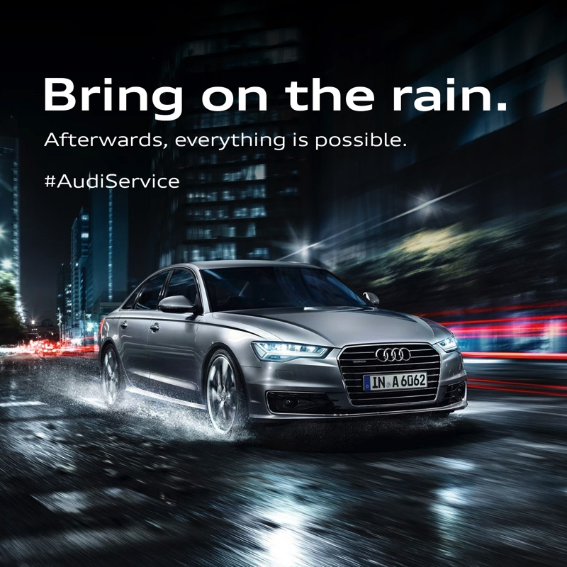 Audi Launches Monsoon Service Campaign – 'Bring on the rain'