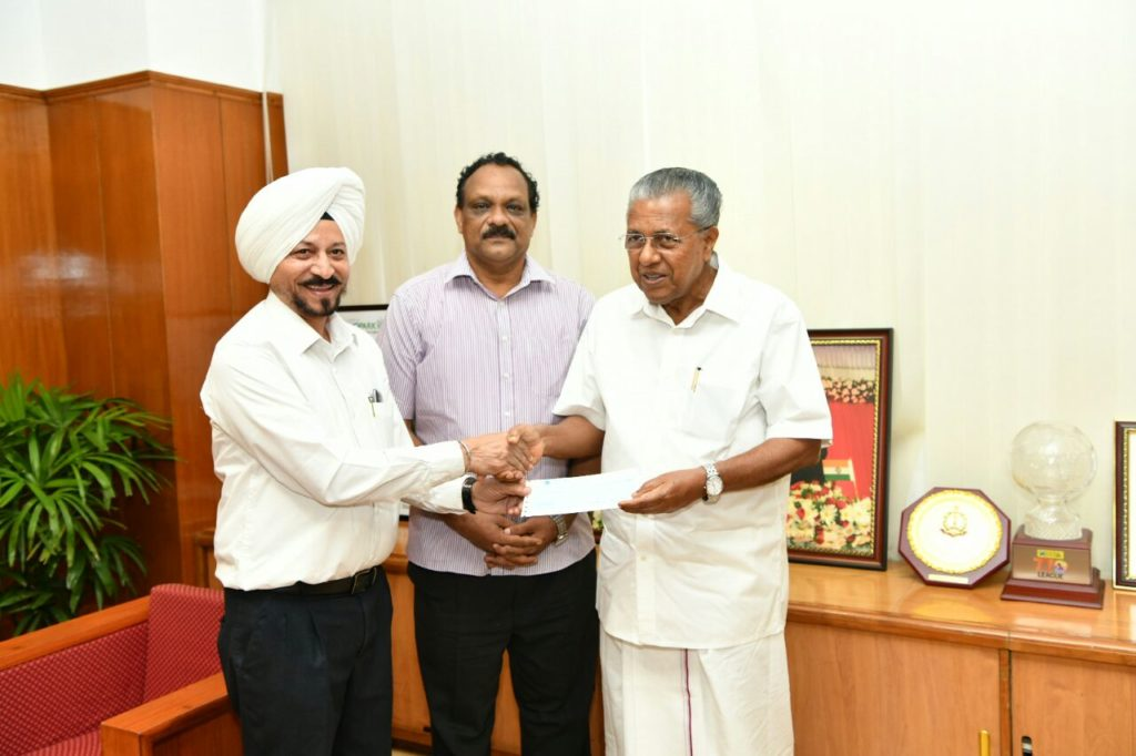 TVS Motor Company Contributes Rs. 1 crore to Kerala Chief Minister's Distress Relief Fund (CMDRF)