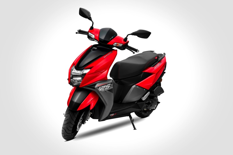 TVS NTORQ 125 Sales Cross 1lakh Units, Launches in Brand New Metallic Red Body Colour