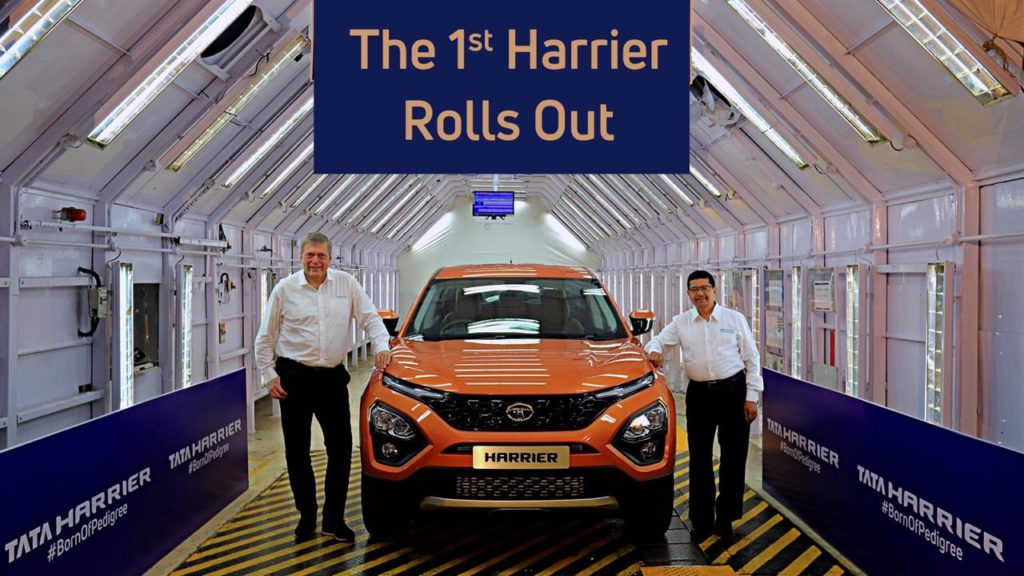 Revealed – Tata Harrier Revealed as the 1st one rolls out (Video Included)