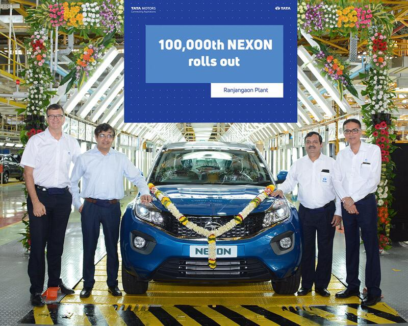 Tata Motors rolls out 100,000th Nexon in 22 months after launch