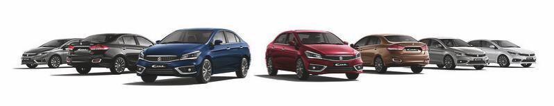 Maruti Suzuki Ciaz dominates the segment with 28% market share selling 2.76 Lakh units since launch