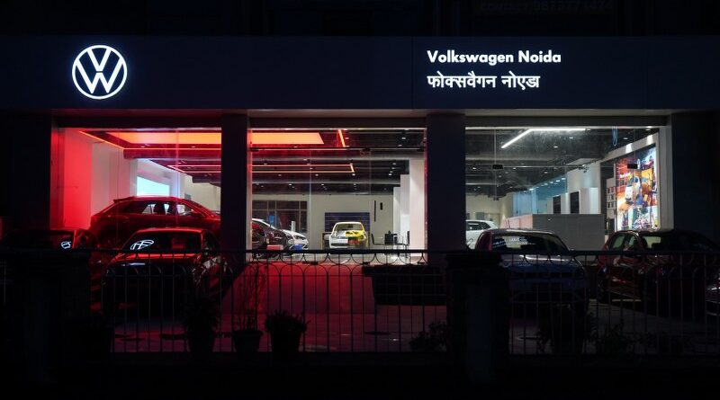Volkswagen dealerships across India now adorn their new brand logo & design